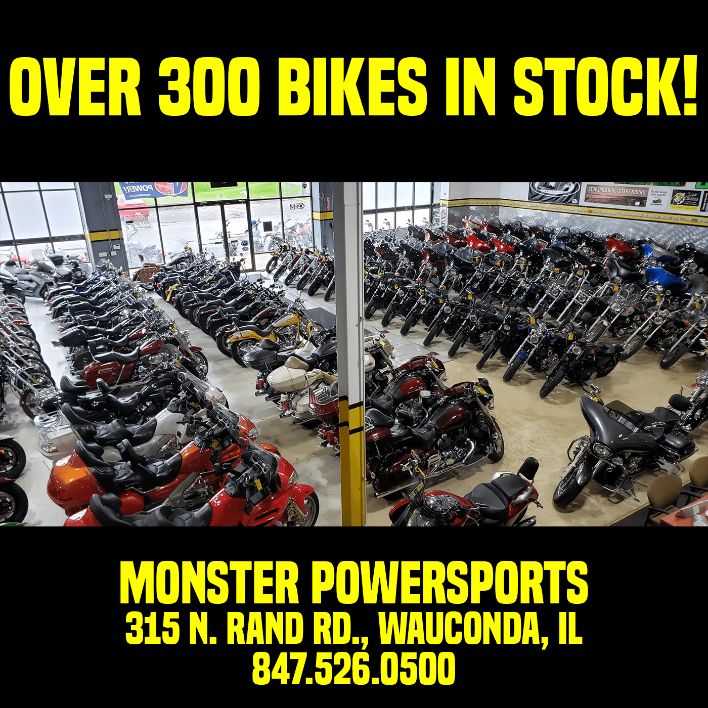 Over 300 Bikes in Stock at Monster Powersports